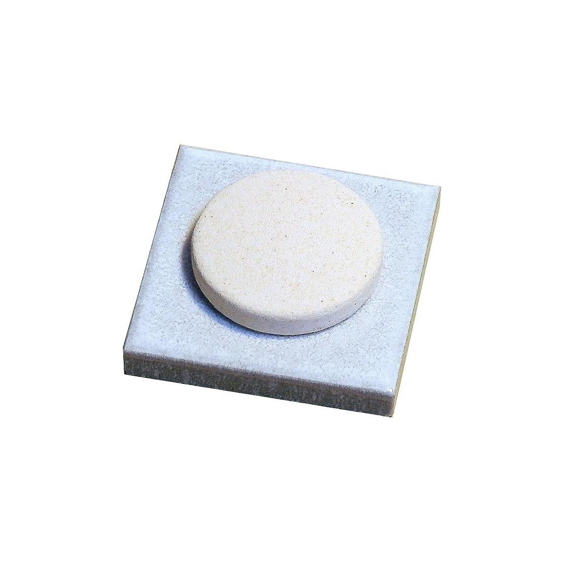 自動的にシャックル研磨〔立風屋〕珪藻土アロマプレート美濃焼タイルセット ホワイト(白) RPAP-01003-WT