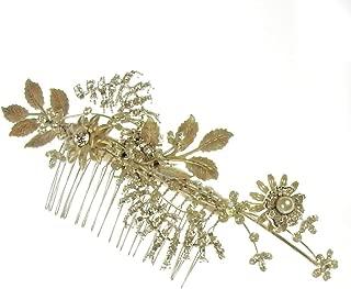 Belinda Large fiore nuziale capelli a pettine in avorio e8103ivy