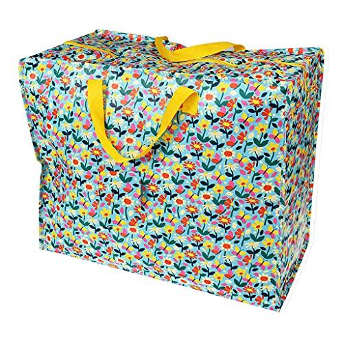 LS-LebenStil XXL Jumbo Bag Flower Power 55cm Recycled Allzwecktasche Einkaufstasche