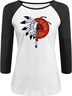 Women's Adam And The Ants 100% Cotton 3/4 Sleeve Athletic Raglan Sleeves T-Shirt