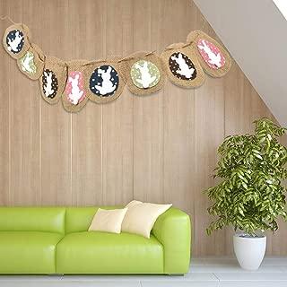 ホオジロイースターバニーデコレーションホオジロ祭りパーティーDIY装飾ホオジロウサギパターンリネン