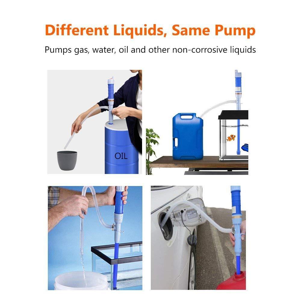 Kraftstoffpumpe Batteriebetrieben Kanisterpumpe Siphonpumpe Tankpumpe Wasserpumpe Umf/üllpumpe f/ür Fl/üssigkeiten wie Diesel /Öl Wasser Pumpe mit Schlauch Benzinpumpe Elektrische Handpumpe