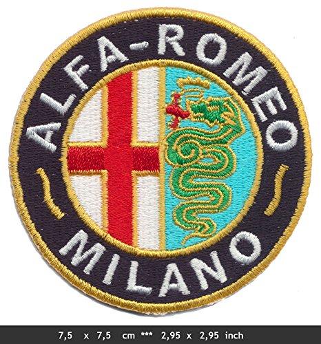 Alfa Romeo Milano Patch Aufnäher Aufbügler Automobile Sportwagen Italien