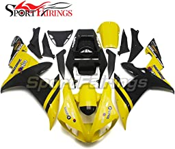 Sportfairings Motorcycle Complete Fairing Kit For Yamaha YZF1000 YZF R1 2002 2003 Year 02-03 Yellow Black Cowling