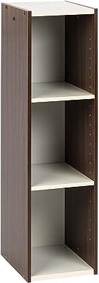 Marque Amazon- Movian Meuble de Rangement Petit Espace modulable Gain de Place UB-9025-Brun et Blanc, 25 x 29 x 90 cm
