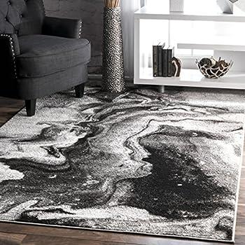 nuLOOM Abstract Area Rug 6  7  x 9  Grey