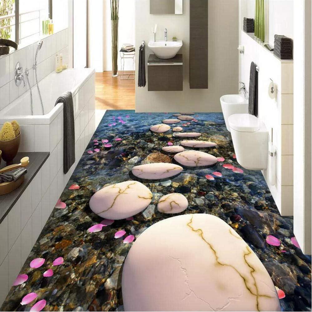 Pbldb 3D Mural Tampa Mall Wallpaper Our shop most popular Floor Path Petal Stone Pebble