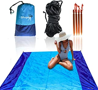 Beach Camping Mat Canopy Tent Blanket Set of 200x210cm Sand Water & Scratch Proof Compact Lightweight Quick Drying 210T Ny...