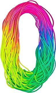 West Coast Paracord Macramé Weaving Rainbow Dip Dye Cord - Bright Color 550 Paracord - Multiple Lengths Available 10 Feet ...