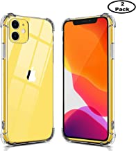 2 Pack Phone Case Compatible for iPhone 11 6.1inch(2019) Case Premium Clear Soft TPU Gel Slim Fit Transparent Flexible Smartphone Cover Compatible for iPhone 11 6.1inch(2019) Clear