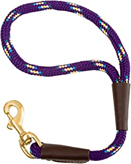 Mendota Dog Products Traffic Lead Short Leash, 1/2 by 16-Inch, Purple Confetti