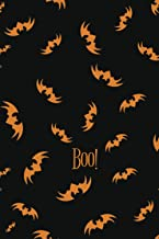 Boo!: Cute Bats Journal / Halloween Theme Blank Lined Notebook / Scary Funny Healthy Trick or Treat Diary Notepad vol.1