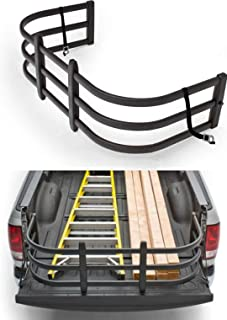 TKMAUTO Truck Bed Extender Black Aluminum Pickup Truck Tailgate Extention Free for All Accessories