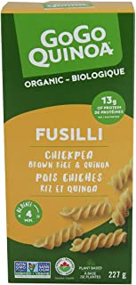 GoGo Quinoa Pasta Chickpea Fusilli | Organic | Gluten-Free | Non-GMO | Vegan | Made in Canada | Corn-Free, Dairy-Free, Eg...