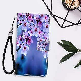 Cherry Blossom Wallpaper Leather Folio Flip Case Fit iPhone 11 (2019) (6.1in) Anti Slip