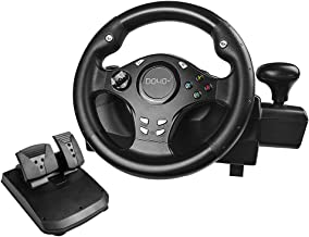 $99 » PC Steering Wheel,DOYO 270°Gaming Racing Wheel Dual Motor Feedback Driving With Pedals Shifter for Xbox Series X S PS3 PS4...