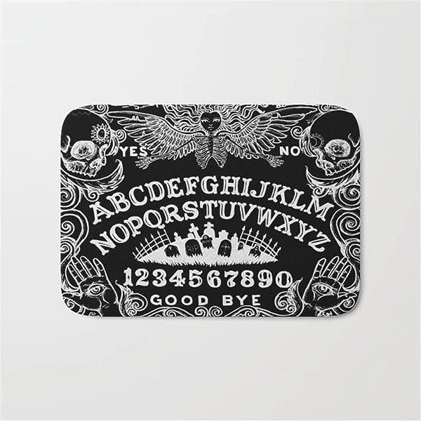 Huishe1 Ouija Board Black Doormat Bath Mat