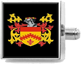 Select Gifts O'Byrne Ireland Family Crest Surname Coat Of Arms Tie Clip Engraved In Pouch