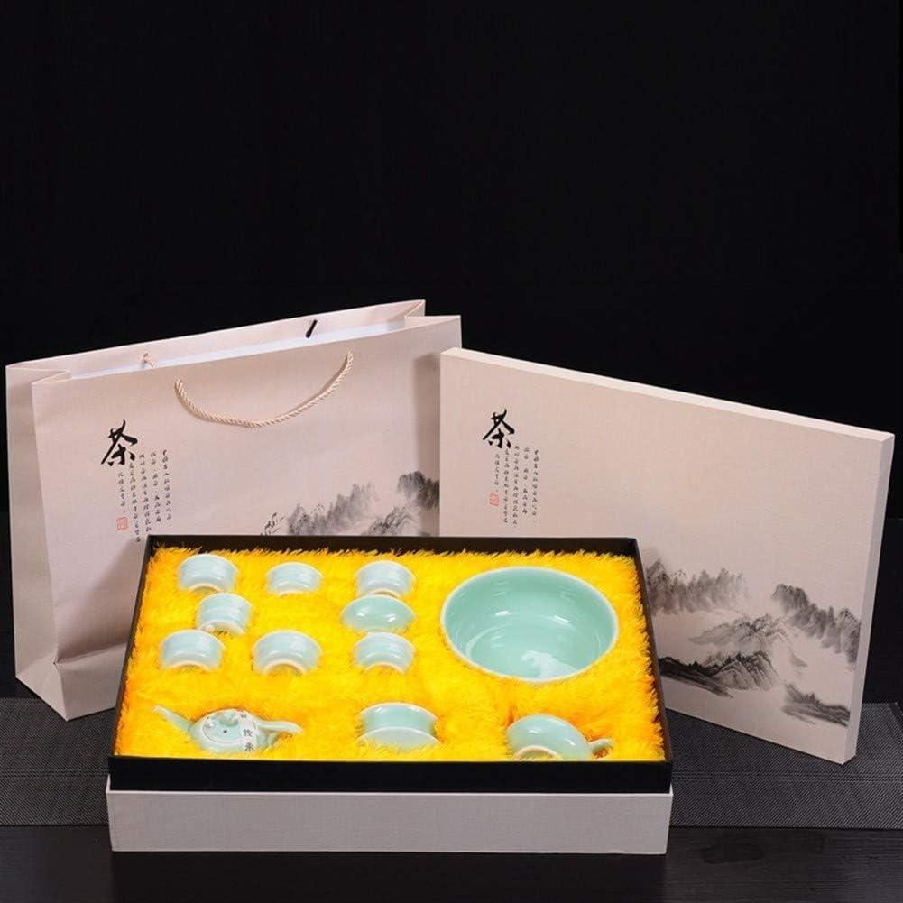Thee Celadon Tea Wash Carp Originative Little Teapot Covered Tea Gift Set (Kleur: Pot Met Side handle pot