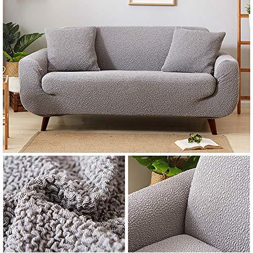 Rmckj-H All Inclusive Sofabezug, dick, faltbar, elastisch, universell, für Sofakissen, Sofakissen, Handtuch, Sofabezug, Haustier-Hundeschutz, grau, 1-Sitzer: 90–140 cm