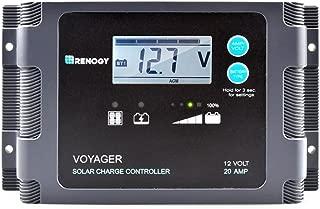 RENOGY PWM ソーラーチャージコントローラー (20A 防水液晶画面付き)【一年間保証付き】