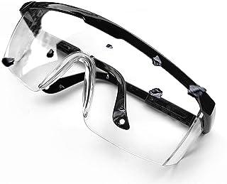 Wunsche - anteojos protectoras de seguridad, transparentes antigoteo, protección UV400, 2 unidades