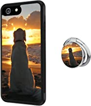 Case for iPhone 6s 6 Golden Retriever Sunset Anti-Scratch Hard Backplate Back Cover with Ring Holder for iPhone 6s 6 Black Shock-Proof Protective Case [Anti-Slippery]