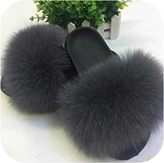 Plush Furry Summer Soft Slippers Winter Flats Plush Fluffy Flip Flops for Girls Outwear Slides Women Shoes