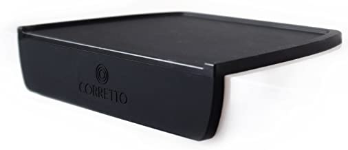 Espresso Tamping Mat by Corretto Coffee - Luxury High-Grip and Food-Safe Black Silicone Corner Tamper and Packing Mat to Protect Your Worktop