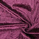 Fabulous Fabrics Pannesamt aubergine, Uni, 150cm breit