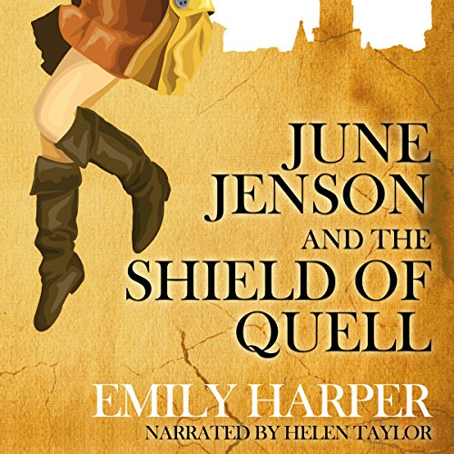 June Jenson and the Shield of Quell audiobook cover art