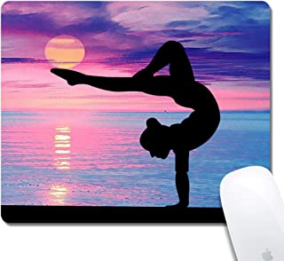 Gymnastics Extended Ergonomic Gaming Mouse Pad, Crochet Rectangle 240x200x3mm Mouse Pad Custom Design Rubber Rectangle 240x200x3mm Mouse Pad-Gymnastics