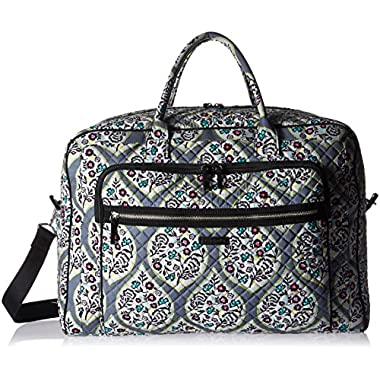 Vera Bradley Women's Iconic Grand Weekender Travel Bag-Signature