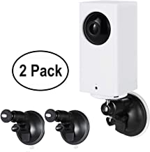 Wasserstein Adjustable Metal Mount with Universal Screw Compatible with Wyze Cam Pan - Extra Flexibility for Your Wyze Cam Pan (2-Pack, White)