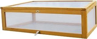 HABAU - Caseta de Exterior para mesas de Cultivo de Suelo Alto, 115 x 53 x 32 cm, Color Amarillo