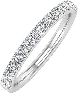 1/3 Carat Diamond Semi-Eternity Wedding Band Ring in 10K Gold
