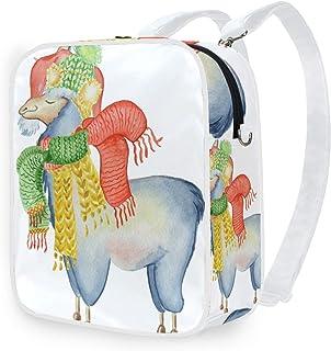 DEZIRO - Bolso bandolera con diseño de llama, bufanda, gorro, mochila escolar