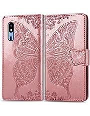 Hoesje voor Galaxy A2 Core Portemonnee-etui, Magneet Flip Wallet Slim Beschermende met Kaarthouders slots Telefoonhoes voor Samsung Galaxy A2 Core - JESD020094 Rose goud