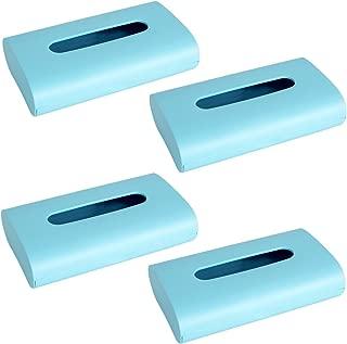 オカ fill+fit 3WAY ティッシュケース 4個セット (ブルー)