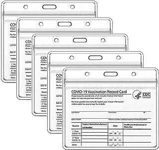 Lot de 5 porte-badges en plastique transparent imperméable pour badge d'identification (horizontal)