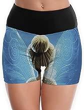 JINUNNU Yoga Shorts Pants Tinkerbell Wing Running Shorts, Gym & Workout Shorts for Women