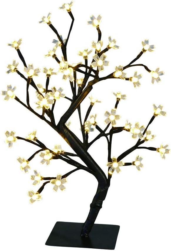 "KELANCHY Cherry Blossoms Tree 17.7"" New mail order w 48LT Ranking TOP10 Warm Light White"