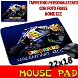 MyCust Mouse Pad VR 46 Valentino Rossi The Doctor personalisiert mit Name, Foto ECC