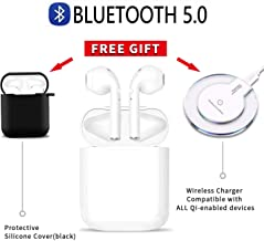 Bluetooth Earbuds Wireless Earbuds with Charging Box Running Headphones Hi-Fi Sound Earphones Noise Cancelling in-Ear Built-in Mic Headset for iPhone/of Airpods/Apple Airpods 2 Cordless Earbuds
