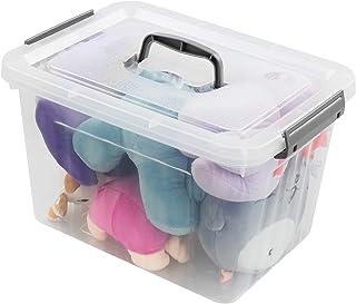 Bringer Clear Plastic Latching Storage Box, Plastic Box, 10 L