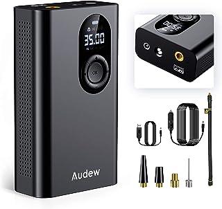 Audew Udoskonalona sprężarka powietrza, elektryczna pompa do samochodu, akumulator z 3 x 2000 mAh, wyjście USB 12 V, 150 P...
