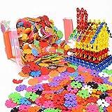 Enfant 500pcs Blocs Briques Jeux de Construction DIY Emboîtement Plastique Disque Ensemble Jigsaw Puzzle 3D Jouet...