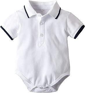 white polo baby romper