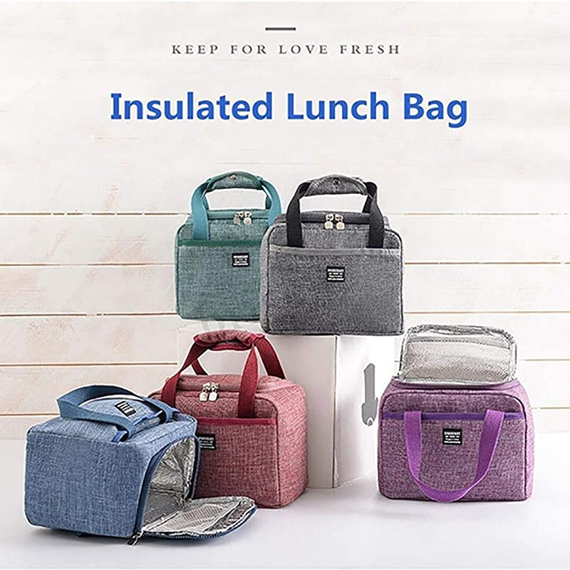 Gatied Lunch Bags Portable Insulated Bento Lunch Box Tote Thermal Picnic Storage Bag