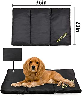 PETSGO Super Soft Warm Crate Mats(1 in High) Dog & Cat Beds for Crates-(Not Suit Chewer Machine Wash & Dryer Friendly-Anti-Slip Pet Beds for Pets Sleeping